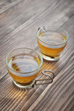 Green tea in a glass small cups Royalty Free Stock Image