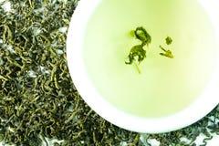 Green tea. Healthy dried green tea leaves Royalty Free Stock Image
