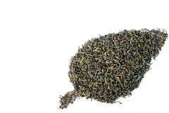 Green tea. Healthy dried green tea leaves Royalty Free Stock Photo