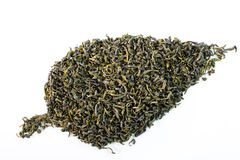 Green tea. Healthy dried green tea leaves Royalty Free Stock Images
