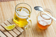 Green tea healthy drink and lemon Royalty Free Stock Images