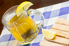 Green tea healthy drink and lemon Royalty Free Stock Image
