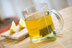 Green tea healthy drink and lemon Royalty Free Stock Photo