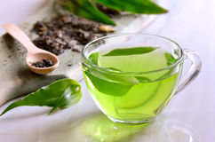 Green tea. Green herbal tea, warm relaxing aromatic antioxidant drink royalty free stock photography