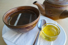 Green tea with honey Stock Image