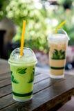 Green tea and Ice Coffee Stock Photos