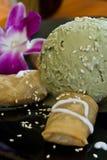 Green tea ice cream Royalty Free Stock Images