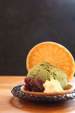 Green tea ice cream Royalty Free Stock Photos