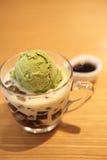 Green tea ice cream Royalty Free Stock Photos