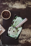 Green tea  ice cream Stock Images