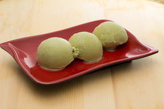 Green tea ice cream Stock Images