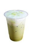 Green tea iced frappe. Royalty Free Stock Images