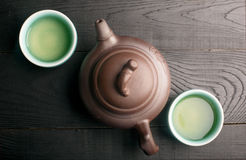 Green Tea In The Tea Cups Royalty Free Stock Images