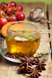 Green tea infusion with food Stock Photography