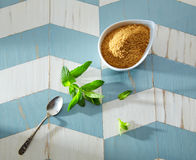 Green tea ingredients Moroccan style Royalty Free Stock Image