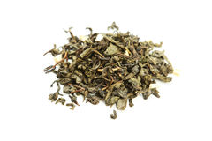 Green tea isolated on a white Royalty Free Stock Images