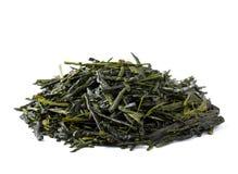 Green tea, japanese shincha, first flush, shadow tea. Royalty Free Stock Photo