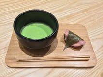 green tea and Japanese sweet Royalty Free Stock Photos