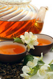 Green tea with jasmine Stock Image