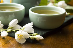 Green tea with jasmine Royalty Free Stock Photo
