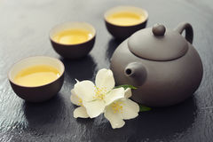 Green tea with jasmine Royalty Free Stock Images