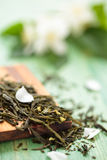 Green tea and jasmine. Royalty Free Stock Images