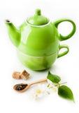 Green tea with jasmine Stock Photo
