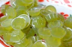 Green tea jelly Stock Photography