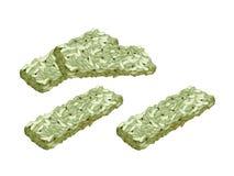 Green Tea Kaminariokoshi Is A Traditional Japanese Crispy Rice Royalty Free Stock Images