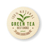 Green Tea label Royalty Free Stock Photography