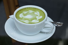 Green tea Latte Royalty Free Stock Image