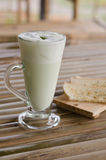 Green Tea Latte and Biscuits Royalty Free Stock Images