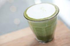 Green tea latte Stock Photo
