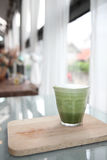 Green tea latte Stock Images