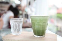 Green tea latte Royalty Free Stock Photo
