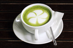 Green tea Latte/coffee art Stock Image