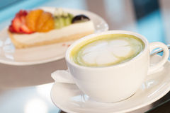 Green tea latte Royalty Free Stock Photo