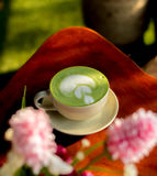 Green tea latte Royalty Free Stock Photos