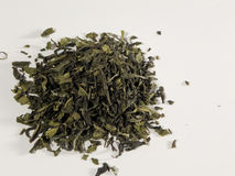 Green tea leaves Stock Photos