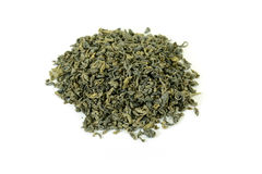 Green tea leaves Royalty Free Stock Photography