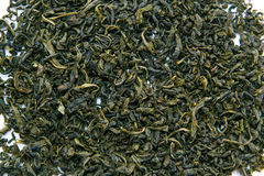 Green tea leaves Stock Images