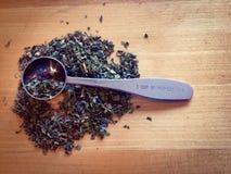Green tea. Leaves, loose tea, teas stock photo
