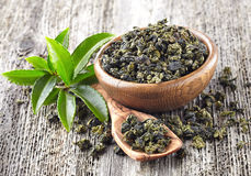 Green tea leaves Royalty Free Stock Image