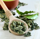 Green tea leaves Stock Photography