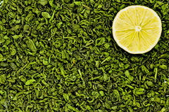 Green tea with lemon Stock Image