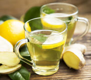 Green Tea with Lemon Royalty Free Stock Photography