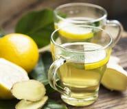 Green Tea with Lemon Stock Image