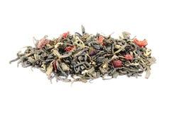 Green tea with  lemon peels Royalty Free Stock Photo