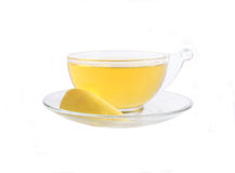 Green Tea with Lemon Royalty Free Stock Images