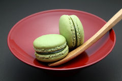 Green Tea Macarons (Almond Cookies) Royalty Free Stock Photos